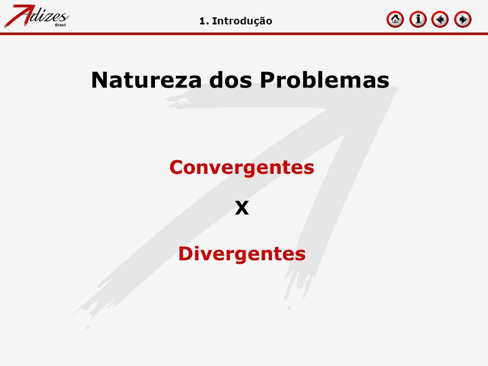 Natureza dos Problemas 1. Introdução Convergentes X Divergentes