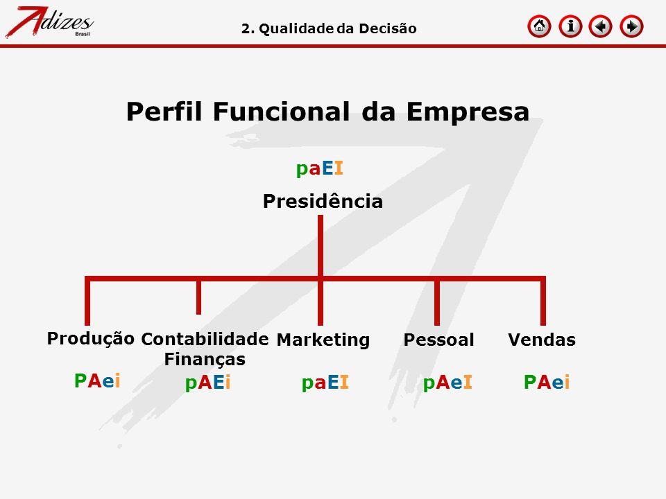 Perfil Funcional da Empresa paEIpaEI PAeiPAei pAEipAEipaEIpaEIpAeIpAeIPAeiPAei Presidência Produção Contabilidade Finanças Marketing Pessoal Vendas 2.