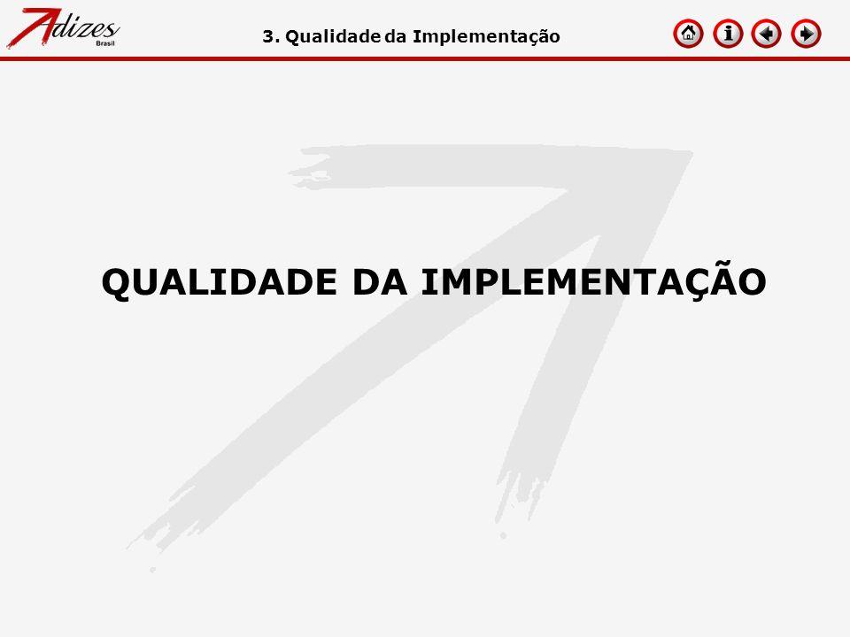 3. Qualidade da Implementação QUALIDADE DA IMPLEMENTAÇÃO