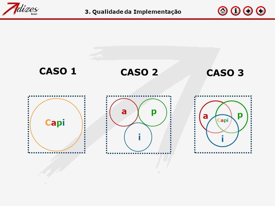 CapiCapi CASO 1 CASO 2 ap i CASO 3 a p i CapiCapi 3. Qualidade da Implementação