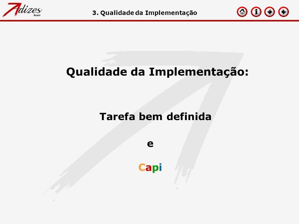 Qualidade da Implementação: Tarefa bem definida eCapieCapi 3. Qualidade da Implementação
