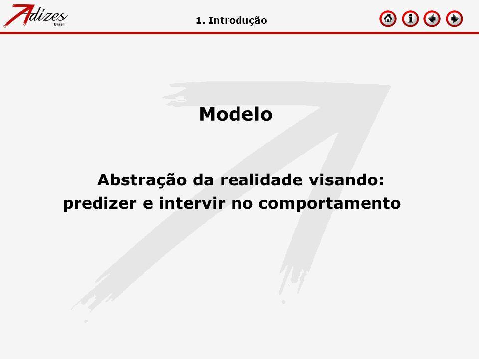 Modelo Abstração da realidade visando: predizer e intervir no comportamento 1. Introdução