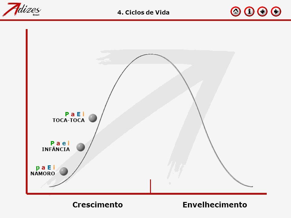 p a E i NAMORO 4. Ciclos de Vida P a e i INFÂNCIA P a E i TOCA-TOCA CrescimentoEnvelhecimento