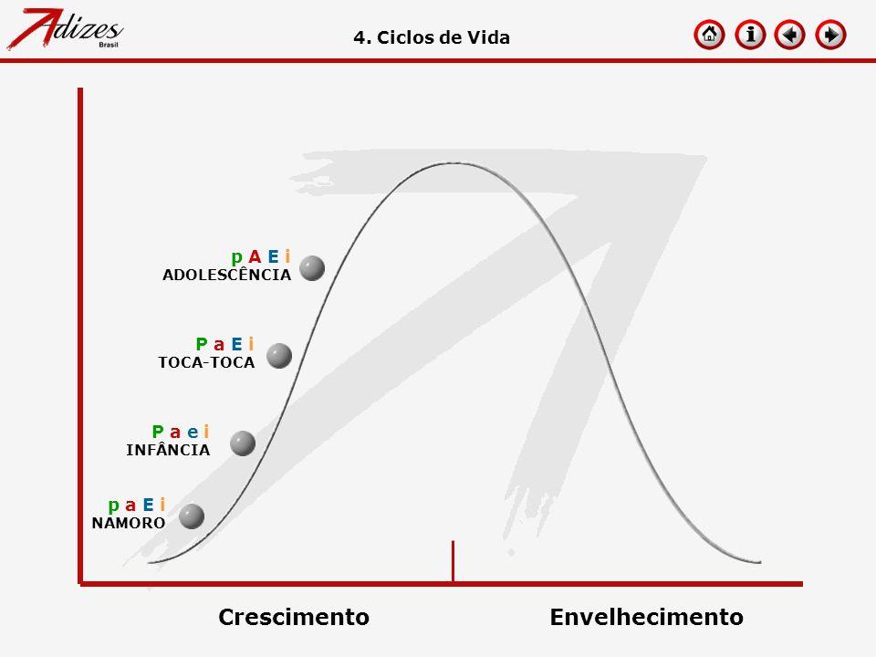 p a E i NAMORO 4. Ciclos de Vida P a e i INFÂNCIA P a E i TOCA-TOCA p A E i ADOLESCÊNCIA CrescimentoEnvelhecimento