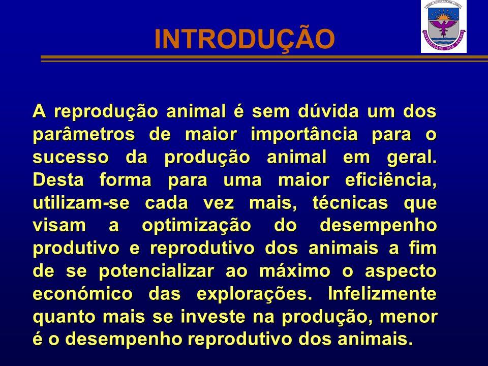 INTRODUÇÃO A reprodução animal é sem dúvida um dos parâmetros de maior importância para o sucesso da produção animal em geral. Desta forma para uma ma