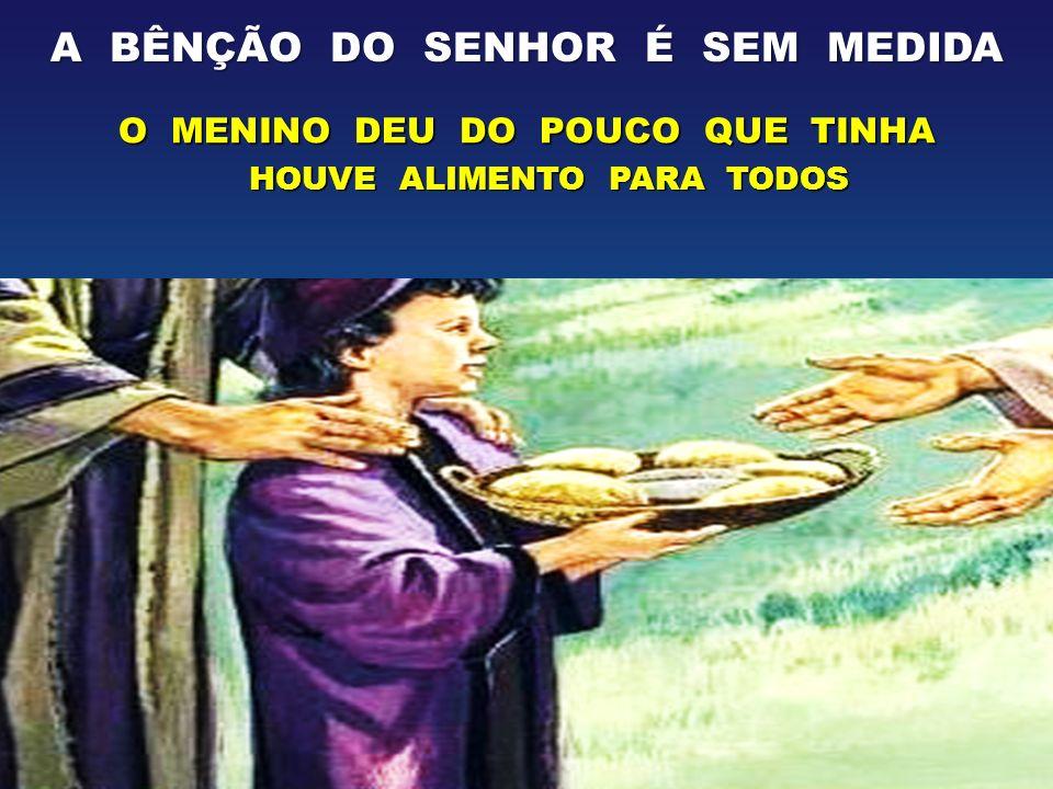 SÓ JESUS TEM ALIMENTO PARA DAR AO HOMEM ELE NOS CONFIOU AGORA A DISTRIBUIÇÃO DESTE ALIMENTO...DAI-LHES VÓS DE COMER