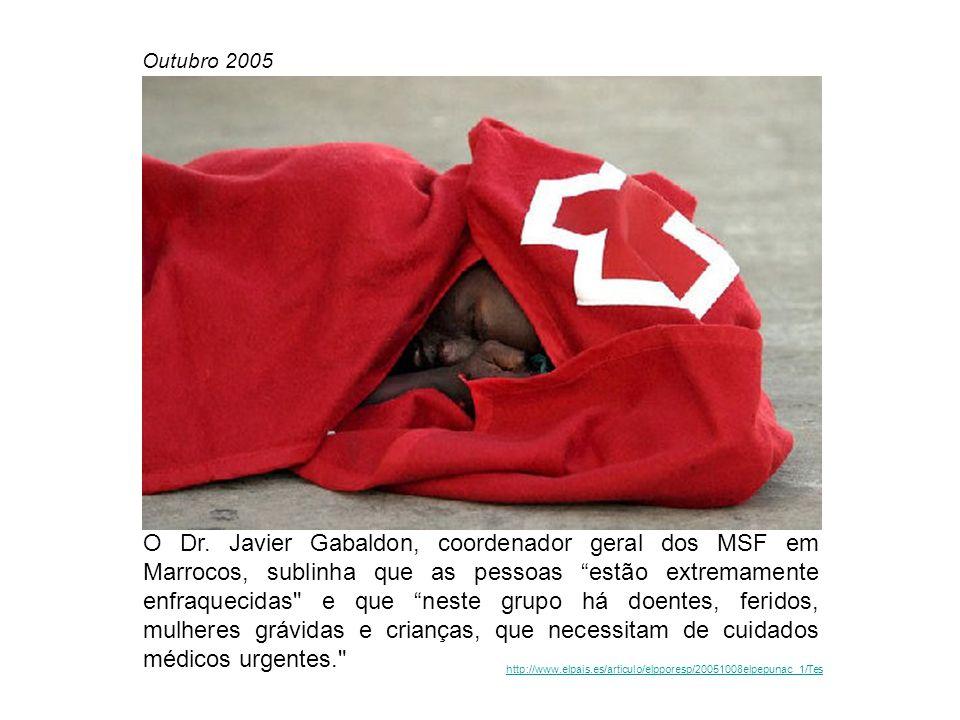Agência Europeia de Gestão da Cooperação Operacional nas Fronteiras Externas (FRONTEX) Asociación Pro Derechos Humanos de Andalucía [ http://www.apdha.org ] BBC- News [ http://news.bbc.co.uk ] Ciudad Redonda [ http://ciudadredonda.org ] Doctors Without Borders/Médecins Sans Frontières [ http://www.doctorswithoutborders.org ] El Mundo [ http://www.elmundo.es ] El Pais [ http://www.elpais.es ] Fundació Lluis Espinal - Centro de Estudios Cristianisme i Justícia [ http://www.fespinal.com ] Human Rights Watch [ http://www.hrw.org ] UNHCR [ http://www.unhcr.org ]FRONTEXhttp://www.apdha.orghttp://news.bbc.co.ukhttp://ciudadredonda.orghttp://www.doctorswithoutborders.orghttp://www.elmundo.eshttp://www.elpais.eshttp://www.fespinal.comhttp://www.hrw.orghttp://www.unhcr.org Fontes [ Fontes Créditos de Imagem [ Créditos de Imagem AFP [ http://www.afp.com/portugues/home/ ]http://www.afp.com/portugues/home/ AP - Associated Press [ http://www.ap.org ]http://www.ap.org EFE [ http://www.efe.es]http://www.efe.es REUTERS [ http://photos.reuters.com/Pictures/default.aspx ]http://photos.reuters.com/Pictures/default.aspx Chema Moya/EFE Manuel Lérida/EFE Ricardo Gutierrez/EFE Rafael Marchante/REUTERS Fotografias [ Fotografias
