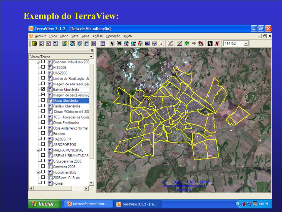 Exemplo do TerraView: