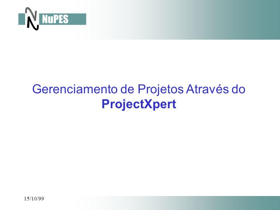 15/10/99 Gerenciamento de Projetos Através do ProjectXpert