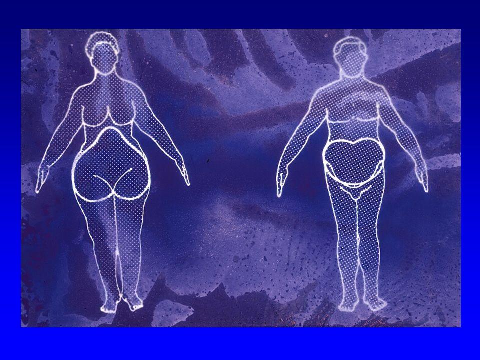 Perímetro da cintura (cm): Perímetro da cintura e complicações metabólicas > > 88 > > 102 Risco aumentado