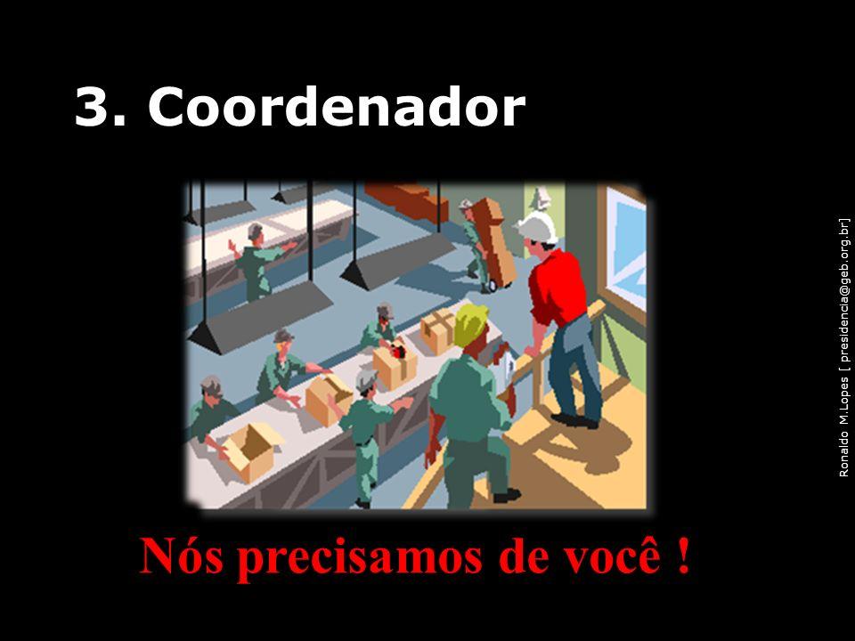 Ronaldo M.Lopes [ presidencia@geb.org.br] 3. Coordenador Nós precisamos de você ! 40