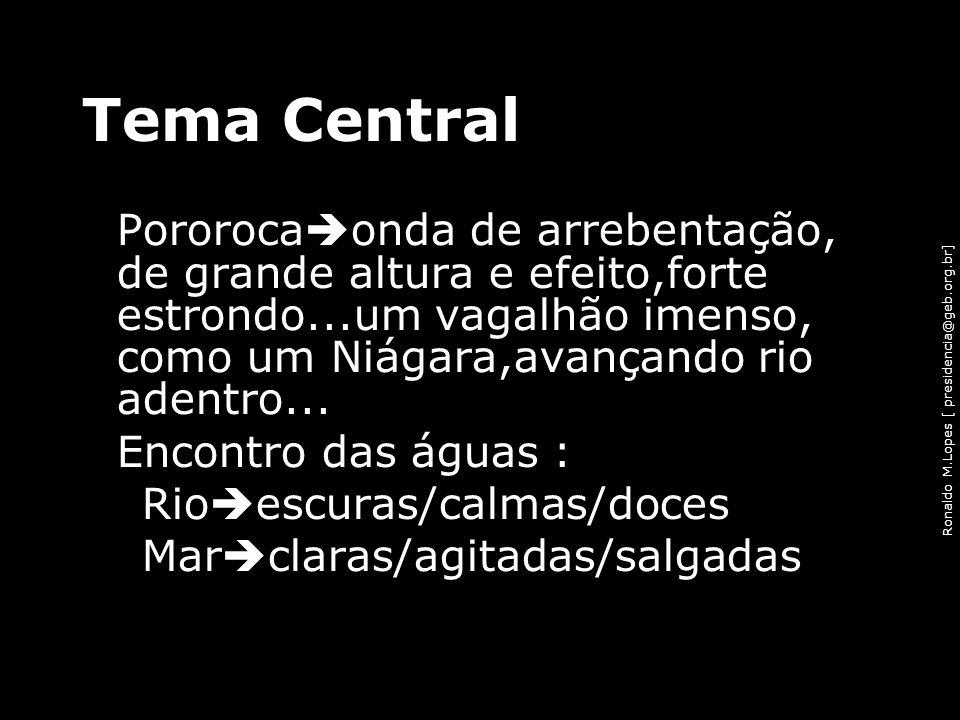 Ronaldo M.Lopes [ presidencia@geb.org.br] Tema Central Pororoca onda de arrebentação, de grande altura e efeito,forte estrondo...um vagalhão imenso, c