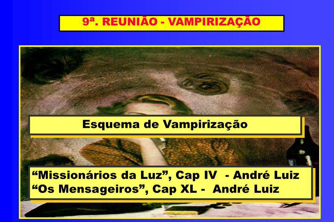 9 a. REUNIÃO - VAMPIRIZAÇÃO Esquema de Vampirização Esquema de Vampirização Missionários da Luz, Cap IV - André Luiz Os Mensageiros, Cap XL - André Lu