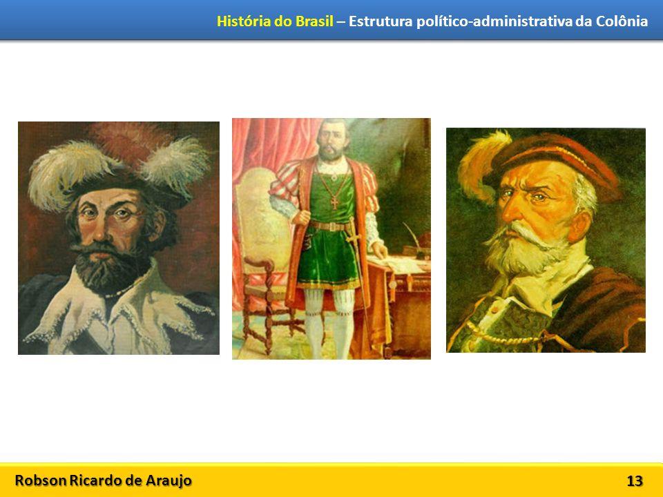 Robson Ricardo de Araujo História do Brasil – Estrutura político-administrativa da Colônia 13