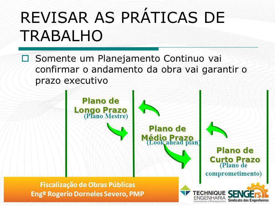 Fiscalização de Obras Públicas Engº Rogerio Dorneles Severo, PMP Plano de Curto Prazo Plano de Médio Prazo Plano de Longo Prazo (Plano Mestre) (Look a