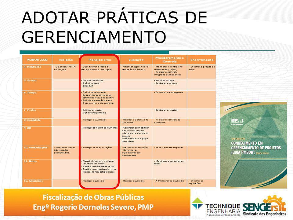 Fiscalização de Obras Públicas Engº Rogerio Dorneles Severo, PMP CONTROLE PLANEJADO X REALIZADO COMPARATIVO DE MÉDIO PRAZO