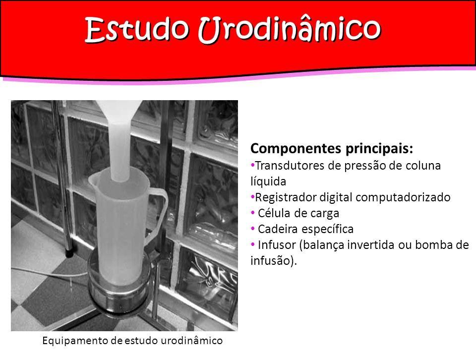 Estudo Urodinâmico Cistometria