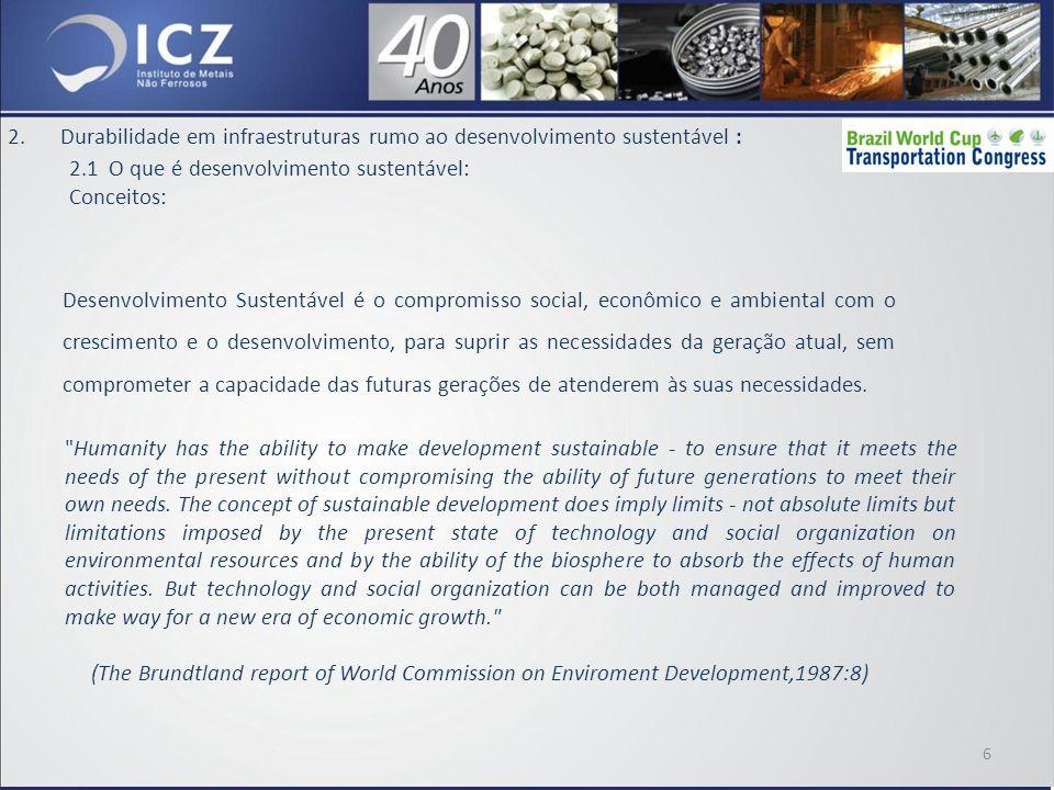 2.Durabilidade em infraestruturas rumo ao desenvolvimento sustentável : 2.2 A Galvanização contribuindo para a durabilidade em infraestruturas: O aço galvanizado oferece uma combinação única de propriedades inigualável por qualquer outro material.