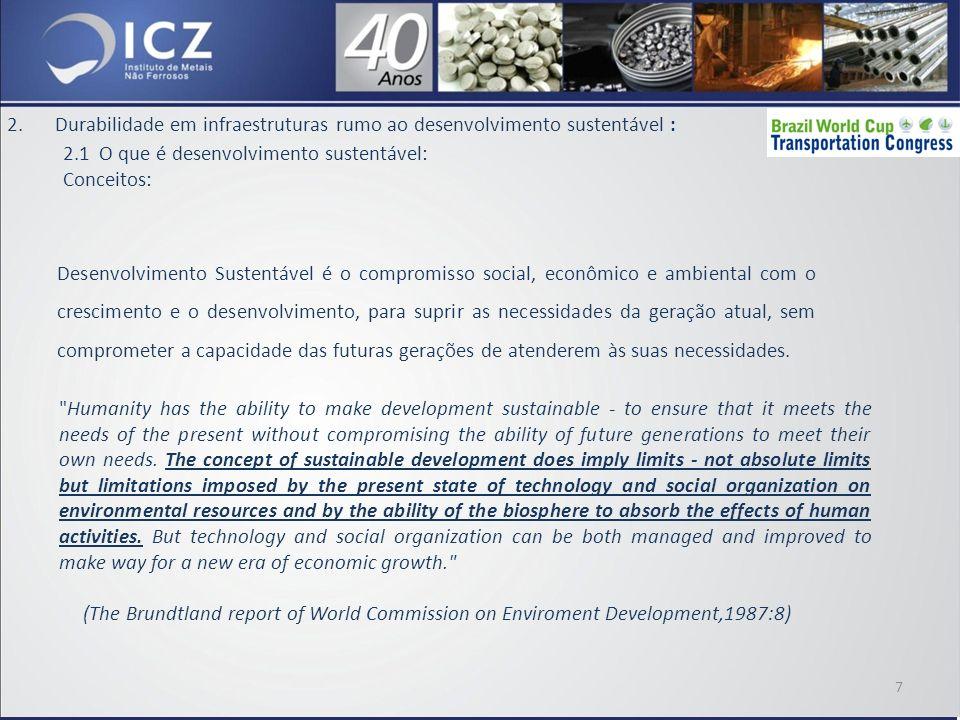 2.Durabilidade em infraestruturas rumo ao desenvolvimento sustentável : 2.2 A sustentabilidade do aço; 18