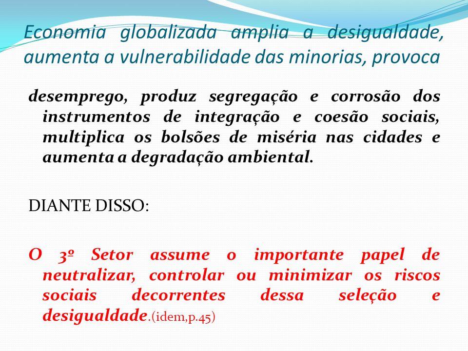 Economia globalizada amplia a desigualdade, aumenta a vulnerabilidade das minorias, provoca desemprego, produz segregação e corrosão dos instrumentos