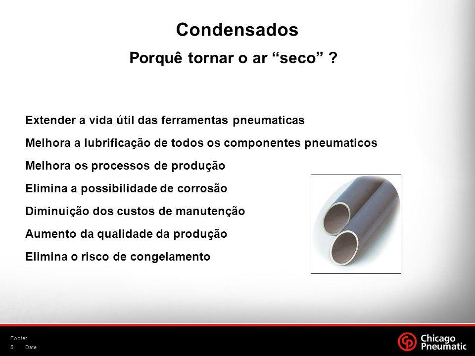 5. Footer Date Extender a vida útil das ferramentas pneumaticas Melhora a lubrificação de todos os componentes pneumaticos Melhora os processos de pro