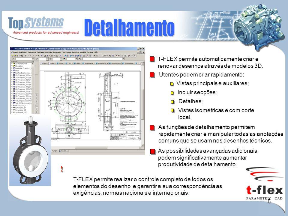 6 T-FLEX permite criar e renovar as especificações BOM.