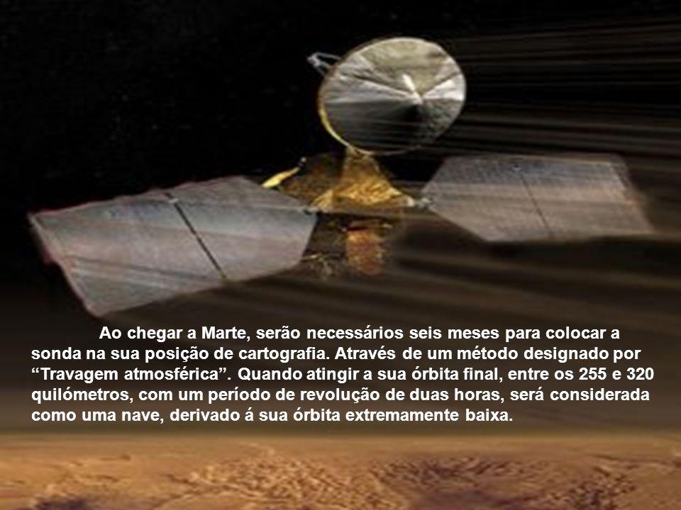 A sua viagem através do espaço interplanetário demorará sete meses, onde percorrerá 500 milhões de quilómetros. Chegará á órbita de Marte em Março de