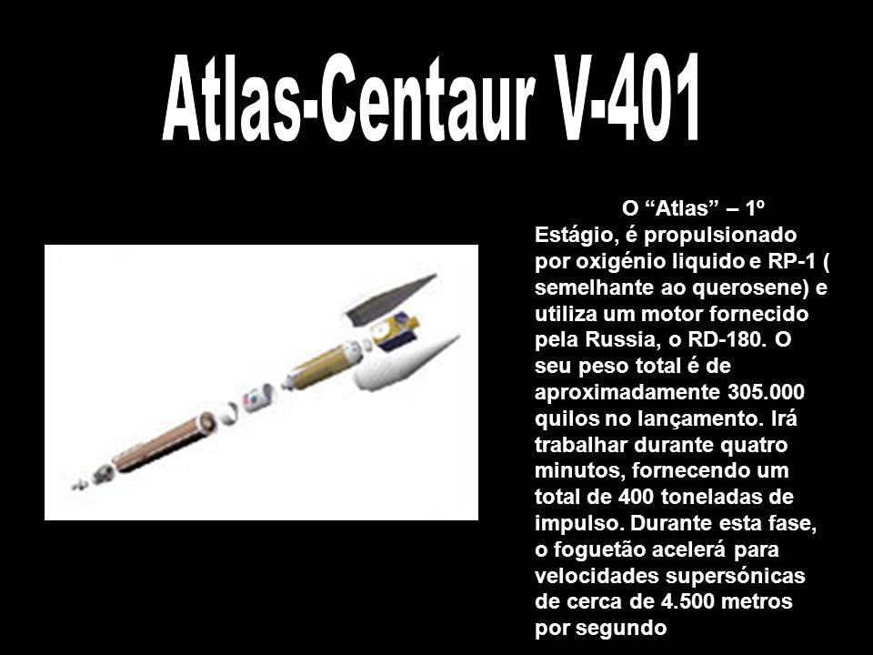 A nave, completamente carregada não pôde ultrapassar os 2180 quilos, ou o foguetão Atlas V não o conseguia lançar na sua missão. Todos os sistemas e e