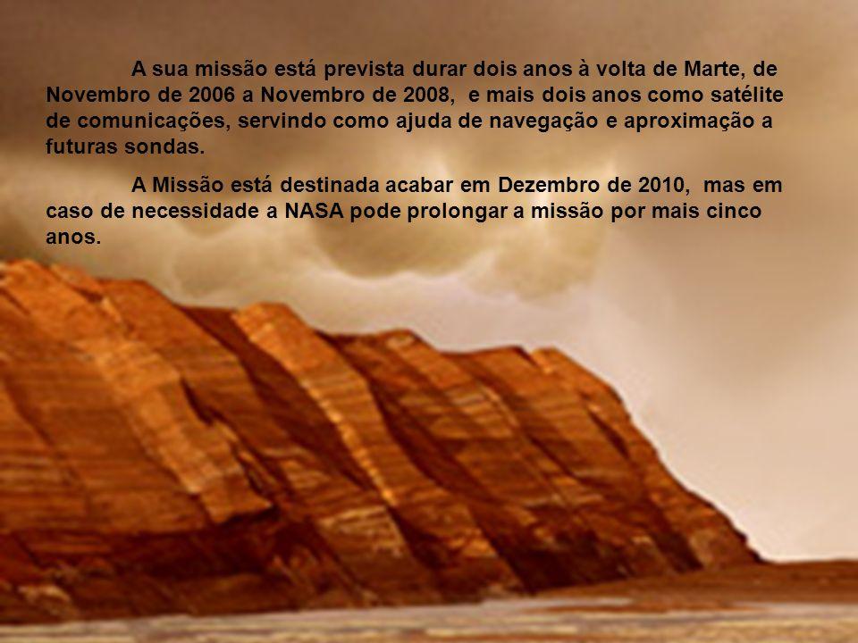A missão MRO (Mars Reconessaince Orbiter) é a nova missão da NASA para o planeta vermelho. Esta missão foi lançada a 12 de Agosto de 2005 ás 13.43h. F