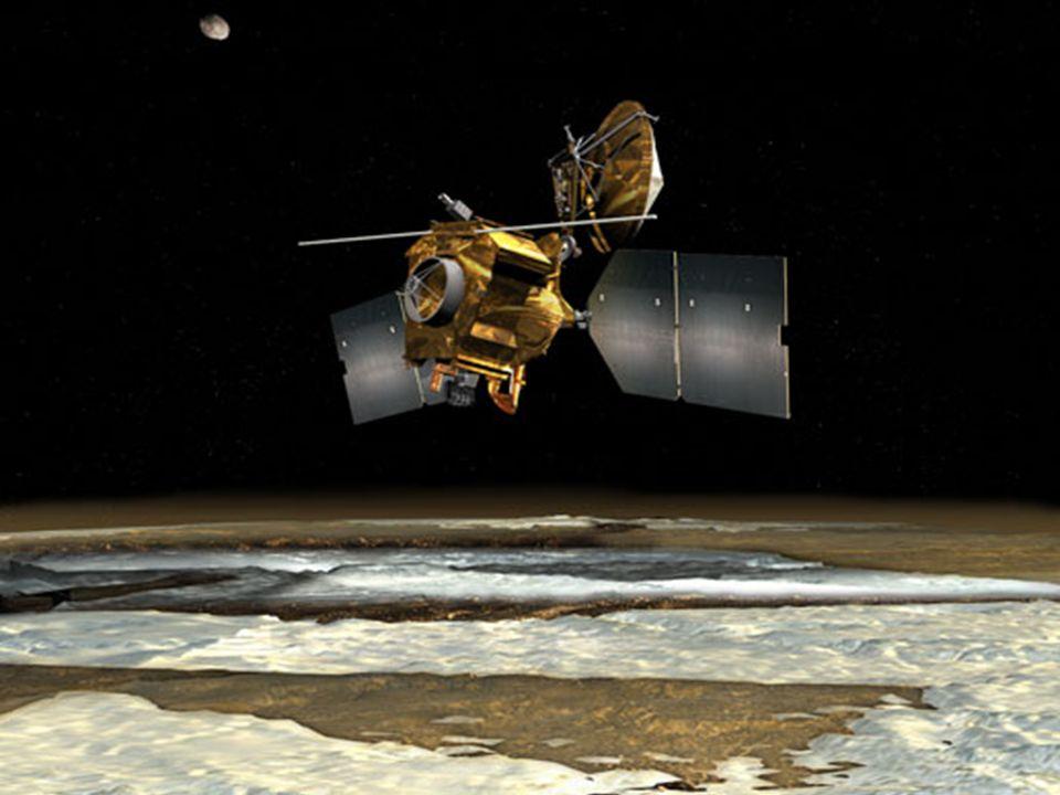 (UHF Communication and Navigation Package) Permite à sonda agir como retransmissor entre a Terra e sondas na superfície de Marte que não possuam energ
