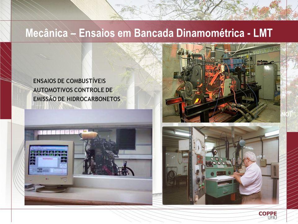 28 Mecânica – Ensaios em Bancada Dinamométrica - LMT MOTORES ASTM-CRF (CETANO E OCTANO) ENSAIOS DE COMBUSTÍVEIS AUTOMOTIVOS CONTROLE DE EMISSÃO DE HID