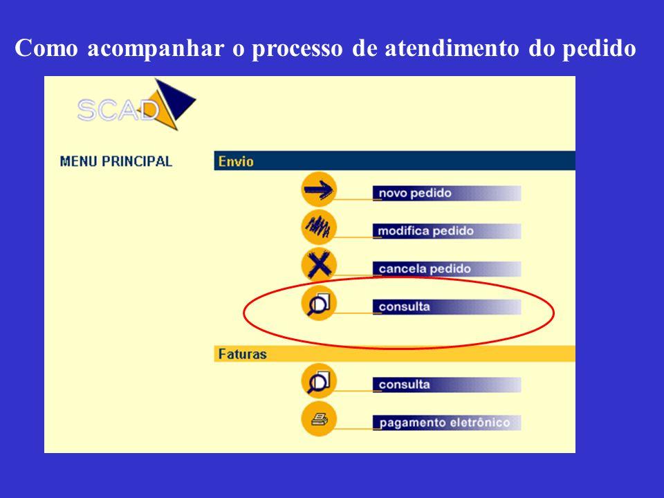 Como acompanhar o processo de atendimento do pedido
