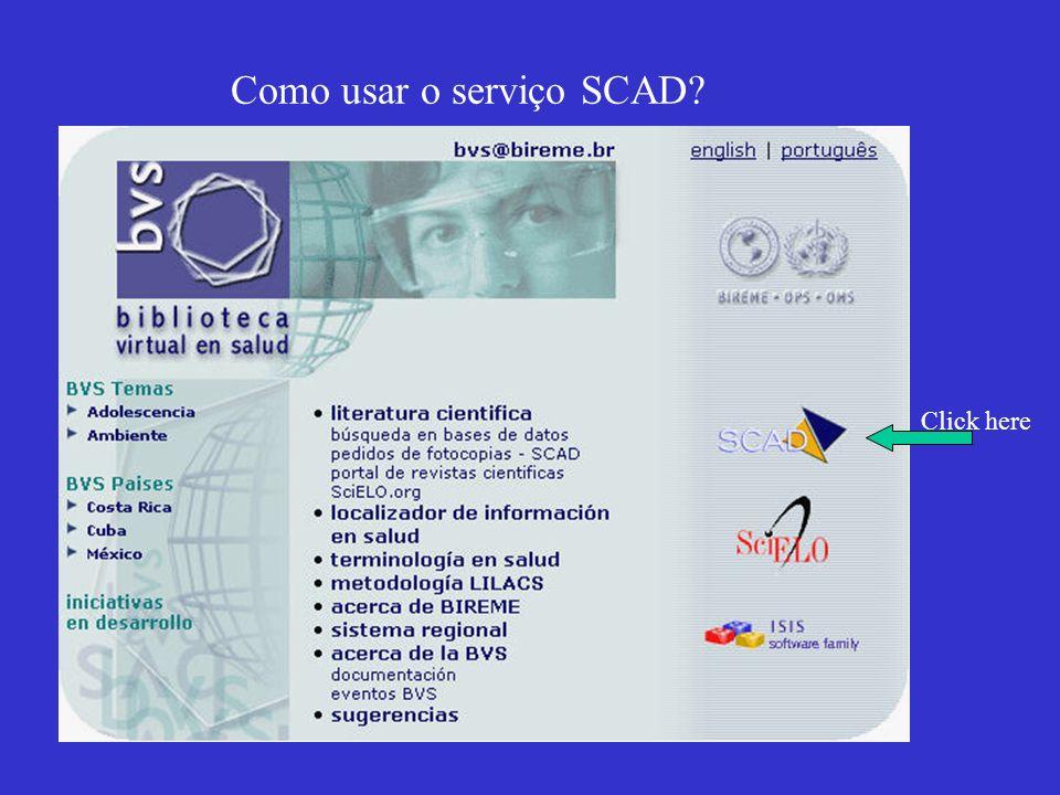 Informaçoes sobre o SCAD
