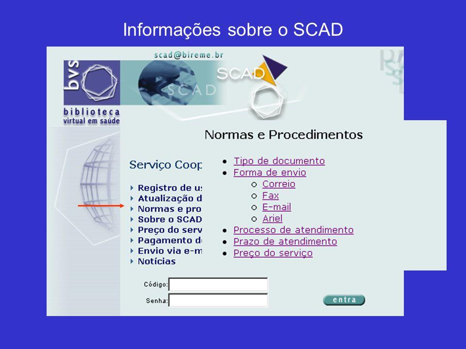 Para usar o serviço, é necessário ter código e senha Novos usuários R$15.00 inscrição