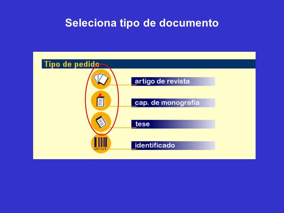 Seleciona tipo de documento