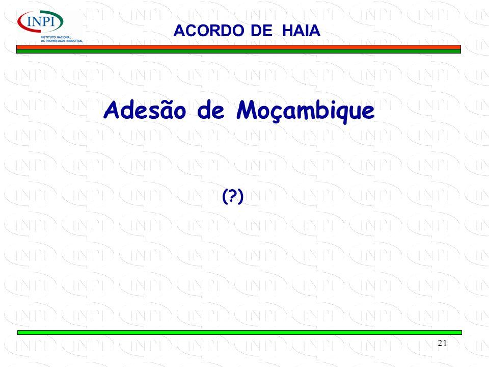 21 Adesão de Moçambique ACORDO DE HAIA (?)