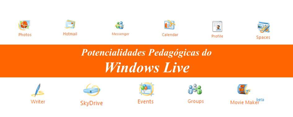 Potencialidades Pedagógicas do Windows Live