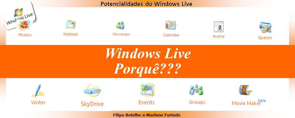 Filipa Botelho e Marlene Furtado Potencialidades do Windows Live Windows Live Porquê???