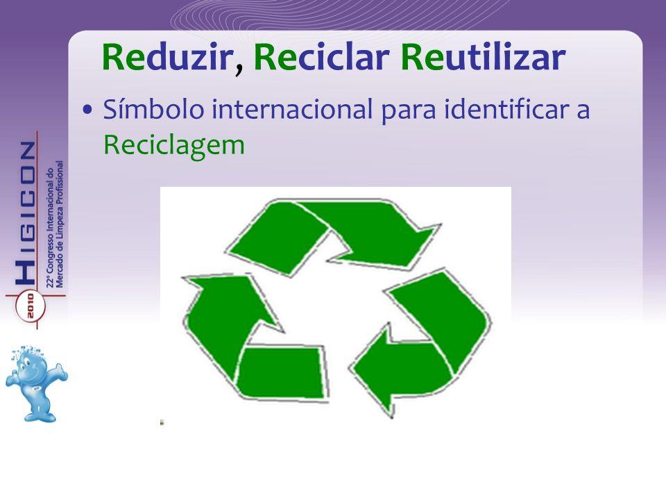 Reduzir, Reciclar Reutilizar Símbolo internacional para identificar a Reciclagem