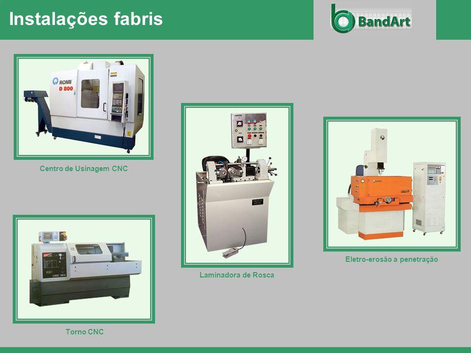 Instalações fabris Centro de Usinagem CNC Laminadora de Rosca Torno CNC Eletro-erosão a penetração