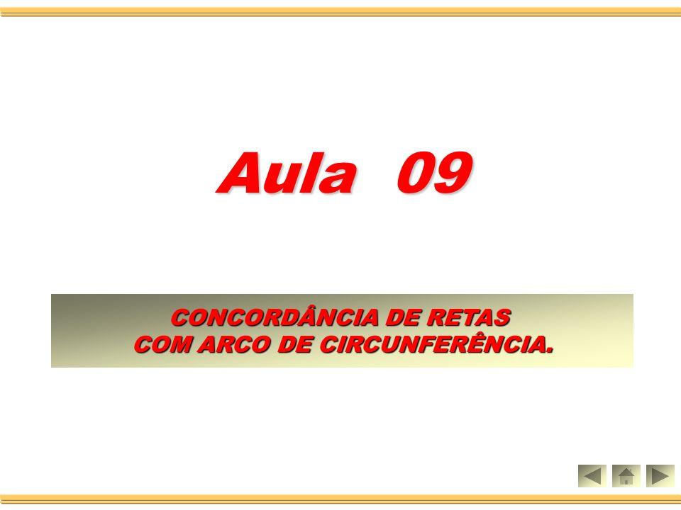 Aula 09 CONCORDÂNCIA DE RETAS CONCORDÂNCIA DE RETAS COM ARCO DE CIRCUNFERÊNCIA.