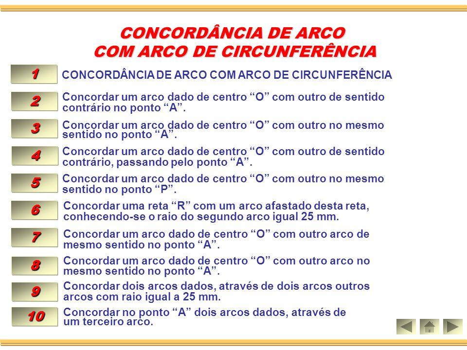 Aula 10 CONCORDÂNCIA DE ARCO CONCORDÂNCIA DE ARCO COM ARCO DE CIRCUNFERÊNCIA.