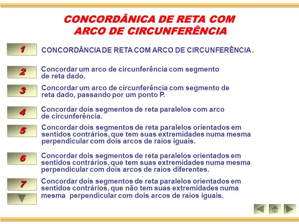 3.CONCORDAR UM ARCO DADO DE CENTRO O COM OUTRO NO MESMO SENTIDO NO PONTO A.