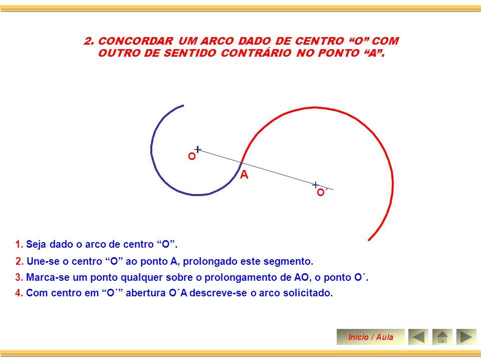 CONCORDÂNCIA DE ARCO COM ARCO DE CIRCUNFERÊCNIA Chamamos de concordância de duas linhas curvas ou de um segmento de reta com uma curva, à ligação entre elas, executada de tal forma, que se possa passar de uma para outra, sem ângulo, inflexão, nem solução de continuidade.