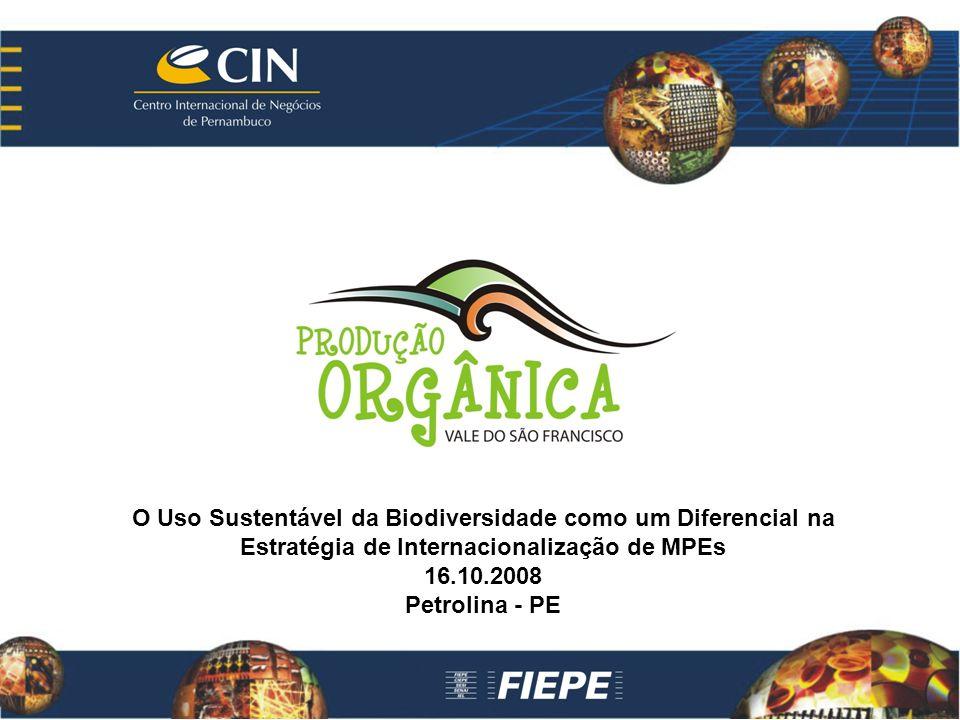 O Uso Sustentável da Biodiversidade como um Diferencial na Estratégia de Internacionalização de MPEs 16.10.2008 Petrolina - PE