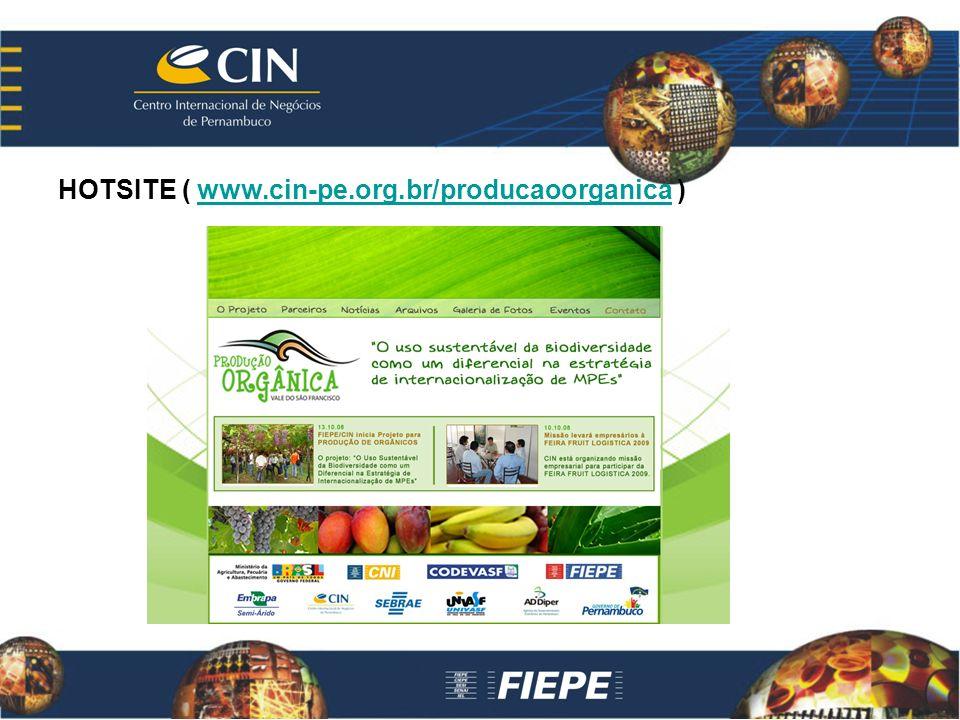 HOTSITE ( www.cin-pe.org.br/producaoorganica )www.cin-pe.org.br/producaoorganica