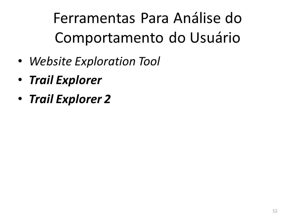 Ferramentas Para Análise do Comportamento do Usuário Website Exploration Tool Trail Explorer Trail Explorer 2 52