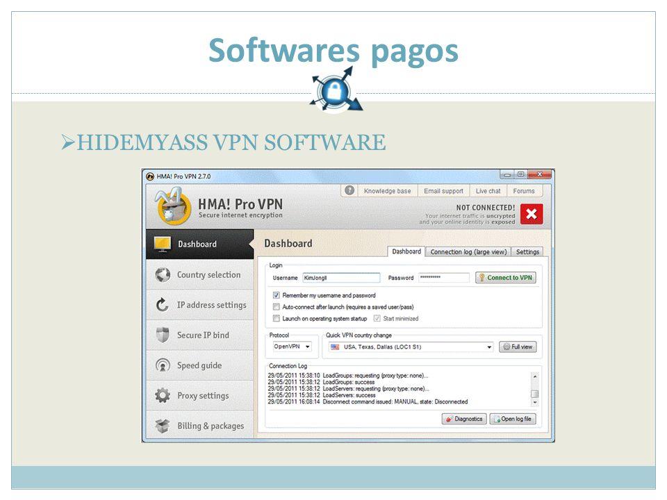 Softwares pagos HIDEMYASS VPN SOFTWARE
