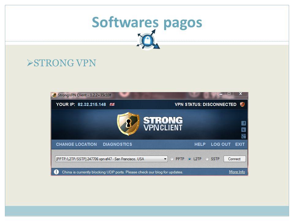 Softwares pagos STRONG VPN