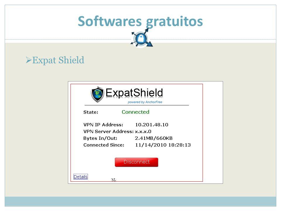 Softwares gratuitos Expat Shield